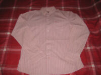 White Stuff Shirt Long Sleeve Striped Top Mens Red SIZE MEDIUM PINK RED
