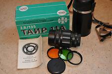 Tair - 11a 2,8/135 mm M42. for Pentax Zenit Praktica Canon Nikon  № 862937  NEW