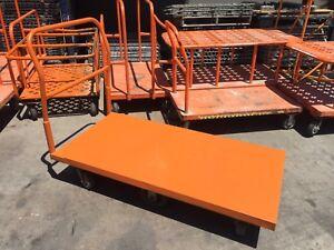 Platform Flat Carts 500lb Capacity 6 Wheels