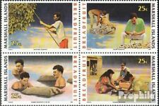 Marshall-Islands 334-337 block of four unmounted mint / never hinged 1990 Brotfr