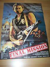 FINAL MISSION - Kinoplakat A1 ´85 - CIRIO H. SANTIAGO