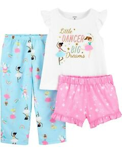 New Toddler Girl Carter's 3 Piece Ballerina Pajama Set 3T 4T 5T