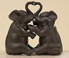 Figur Elefantenpaar 15cm Elefanten Herz Plastik herzige Dekofigur Elefant