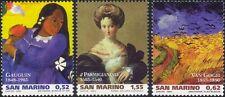 San Marino 2003 Artists/Painters/Art/Gauguin/Van Gogh/Parmigianino 3v (n45307c)