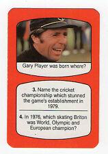 Années 1980 GB TV Multiplication Carte Golf Sud Africain Championnat Golfeur