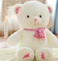 Popular Scarf Pink Teddy Bear Plush Stuffed Toy Animal Soft Doll Kid Gift 12''
