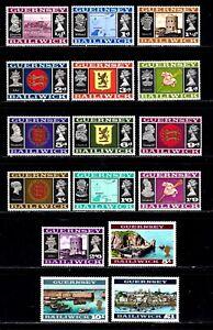 Guernsey stamps #8 - 23, MNHOG, Gem, complete set
