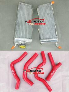For HONDA CR500 CR500R CR 500R 1985-1988 1986 1987 Aluminum radiator + RED Hose