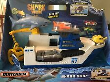 Nwt Matchbox Discovery Shark Ship Playset; Play in water/ on land