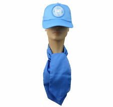 United Nations Peacekeeping Forces Blue Baseball Cap UN Scarf Bow tie Hat Set
