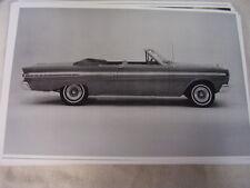 1964 MERCURY COMET CONVERTIBLE #1 11 X 17  PHOTO PICTURE