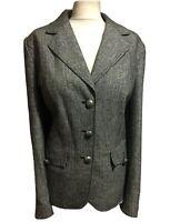 FRANKWALDER Womens UK 18 Jacket Quality Blazer Work Wool Silk Tweed Smart Chic