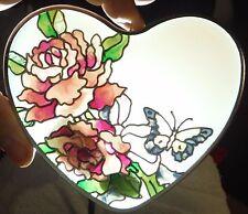"""Vintage Rose Suncatcher Joan Baker Designs 6.5"""" Pink Floral Hand Painted NEW"""