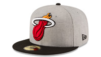 Miami Heat New Era Cap NBA Authentic Heather Grand 59Fifty Fitted Hat