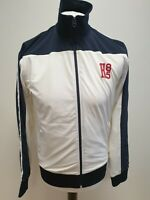 R624 MENS TOMMY HILFIGER WHITE BLACK H85 FULL ZIP JACKET UK M EU 50
