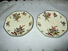 Royal Doulton antique Old Leeds Sprays two saucers