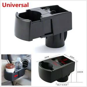 Adjustable Car Scalable Dual Cup Holder Drink Ashtray Mobile Phone Bracket Clip