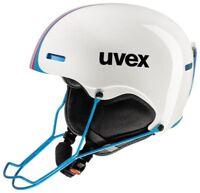 uvex hlmt 5 race whit/blue Skihelm Snowboard Helm mit/ohne Kinnbügel Rennskihelm