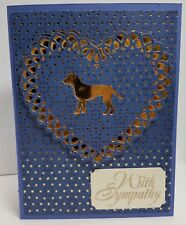 Handcrafted Greeting Card - Pet Sympathy - Dog