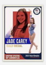 Jade Carey Custom United States USA Gymnastics Olympic Gold Medal Art Card