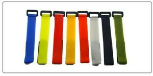 Tie Strap / Holder Fishing Rod Camping Hiking Hook and Loop Various Colours