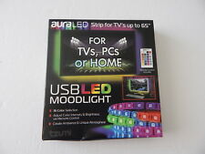 Tzumi 5158 USB LED Moonlight With Remote For TVs PCs Home 16 Color Selection New