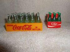 Vintage Mini Coca-Cola Plastic Case w/ 24 Bottles & 6 Pack Carrier w/ 6 Bottles