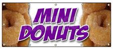 MINI DONUTS BANNER SIGN donut fried dough signs doughnut holes hot fresh