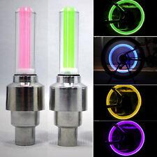 1pc Colorful LED Flash Car Bicycle Wheel Tire Tyre Valve Cap Spoke  Light Lamp