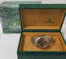 Desirable Copper Dial Air King Rolex Oyster Perpetual 14000 Mens Steel Watch