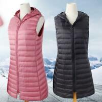 2020 New Women Packable Ultralight 90% Down Hooded Jacket Ladies Puffer Vest