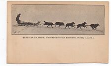 "1905 Alaska Dogsled Private Mailing Postcard "" Sourdough Express ""  Nome"