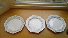 "3 Johnson Brothers Eternal Beau Plates Dinner Octagon 10 1/2"" Excellent"