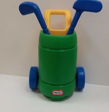 Vintage RARE Little Tikes Totsports Golf Set Easy Hit Green Cart Kids Child Toy