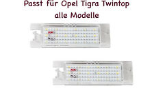 2x TOP LED SMD Kennzeichenbeleuchtung Opel Tigra Twintop alle Modelle (XL)