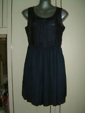 LADIES SIZE 8 T DRESS  NAVY/BLUE NWOT SLEEVELESS SCOOPED NECK LINED ATMOSPHERE