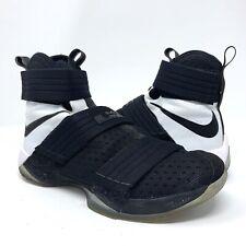 f161eba2b45daf NIKE LEBRON SOLDIER 10 X SFG Men s Basketball Shoes 844378-001 Black White  Sz 9