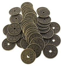Pack of 50 3.5cm Chinese Coins Metal CC 43216