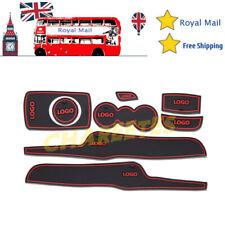 8pcs For Ford Fiesta MK VI 2008 ~ 2014 Gate slot mats Accessories 3D Rubber Mat
