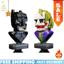Building Blocks Dark Knight Batman and Clown Bust Collection MOC 22597 Brick Toy