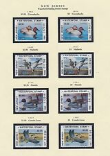 NEW JERSEY HUNTING PERMIT STAMPS 1984-1997 CV $419 BS6398