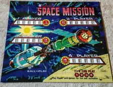 Williams Space Mission Pinball Machine Translite Looks Just Like Backglass