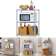 2 Ablage Küchenregal Mikrowellenhalter Standregal Mikrowelle Regal Allzweckregal