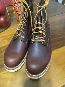 RED WING BOOT 11.5D  6 Inch BRIAR OIL SLICK 8196 Round Toe New / Scuffs