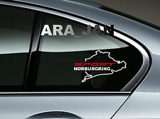 SPORT NURBURGRING Vinyl Decal Sticker sport racing car window emblem logo WHT/R