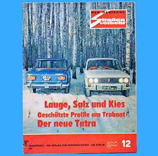 Der Deutsche Straßenverkehr 12/1973 Trabant Tatra 613 Tankstellenverzeichnis F