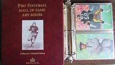 Pro Football Hall of Fame Art Series Collectors' Limited Edition 1-6 in original