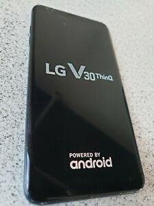 LG V30 ThinQ Smartphone 64GB Moroccan Blue Unlocked - Working but Cracked Screen
