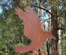 EDELROST Rabe 4 Tier Skulptur Rost Gartendeko Edel Kunst Dekoration Metall NEU
