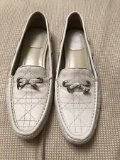 Christian Dior  white Leather Loafers 39
